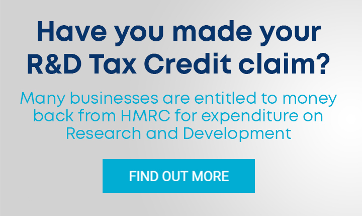Have you made your R&D Tax Credit claim?